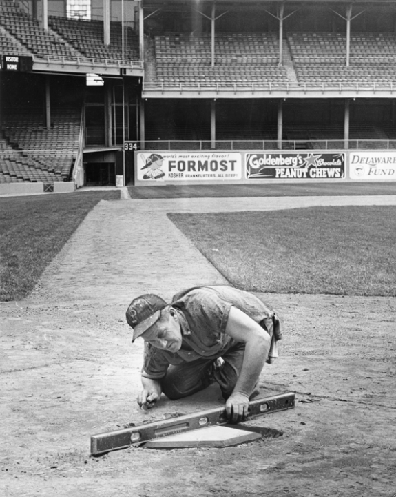 A new home plate is installed in 1964, affording an excellent view of the left-field foul pole 334 feet away.