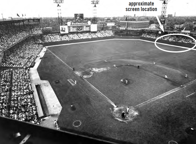 Immediately before a visit by the Yankees, known for their left-handed power, a 21.5-foot-tall screen was erected that stretched from the right-field foul pole 156 feet toward center.