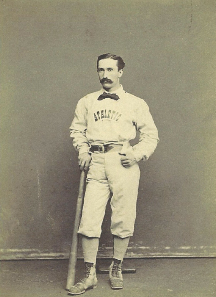 This 1874 photo depicts Fisler, who joined the Athletic Club of Philadelphia in 1866.