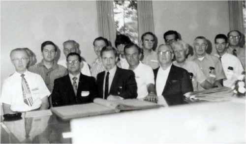 Ray Nemec is in the back row, far right (partially obscured).
